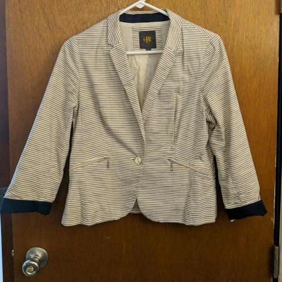 8f45dd4bebe17 The Limited Jackets & Coats   Blue Striped Blazer   Poshmark